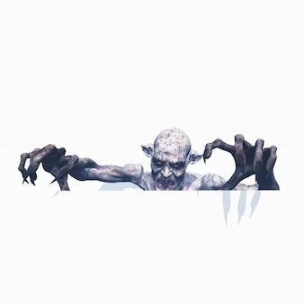 3d böser zombie