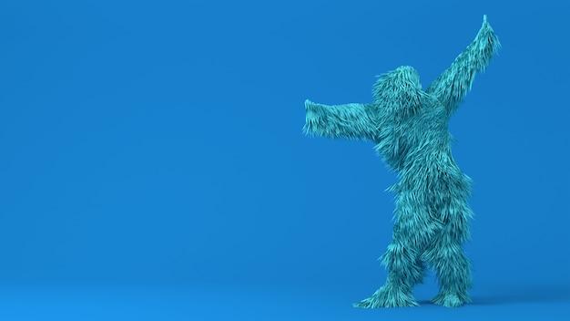 3d-charakter lustige eröffnungsshow isolierte hintergrund 3d-rendering