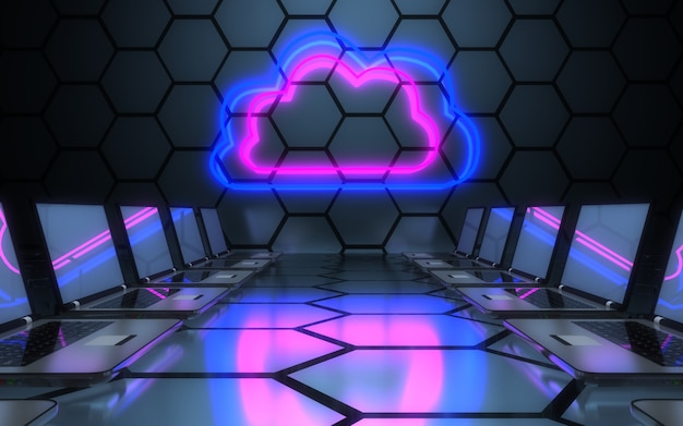 3d-computernetzwerkkonzept. 3d-illustration