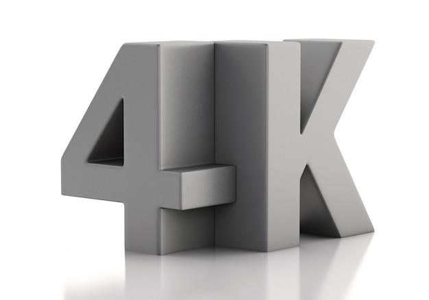3d-darstellung. 4k ultra hd fernseher. technologie-konzept.