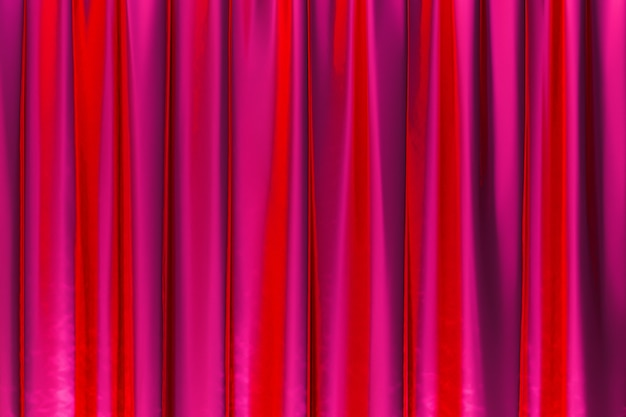 3d-darstellung, abstrakter roter hintergrund luxusstoff oder flüssige welle oder gewellte falten von grunge-seidentextur satin-samt-material oder luxus-hintergrund oder elegantes tapetendesign, roter hintergrund
