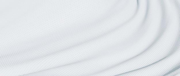 3d-darstellung aus weißem stoff. schillernde holografische folie. abstrakte kunst mode hintergrund.