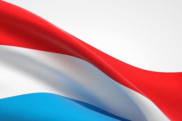3d-darstellung der luxemburgischen fahnenschwingen.