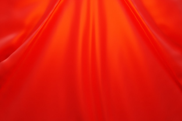 3d-darstellung der textur eines roten natürlichen stoffes mit falten abstrakter hintergrund f