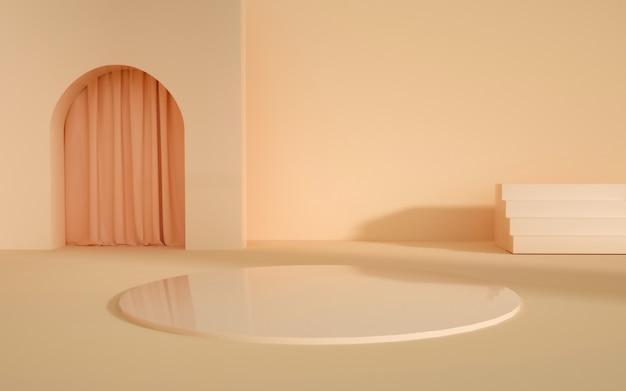 3d-darstellung des abstrakten geometrischen hintergrunds