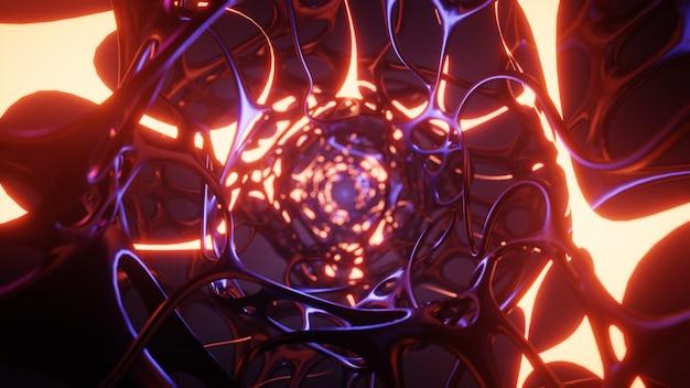 3d-darstellung des abstrakten hintergrunds mit explosion