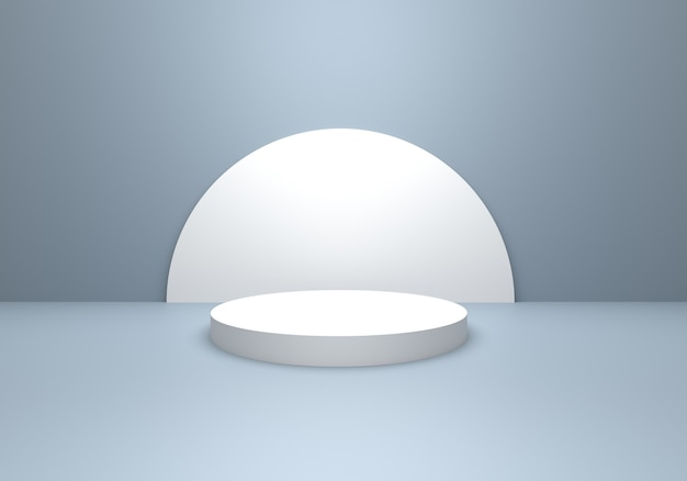3d-darstellung des abstrakten minimalen konzepts des leeren grauen silbers