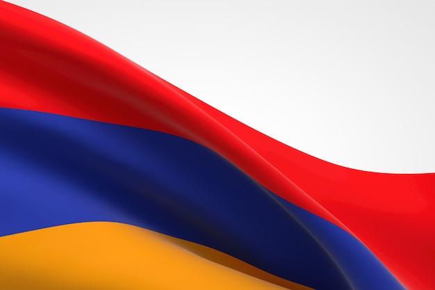 3d-darstellung des armenischen fahnenschwingens.