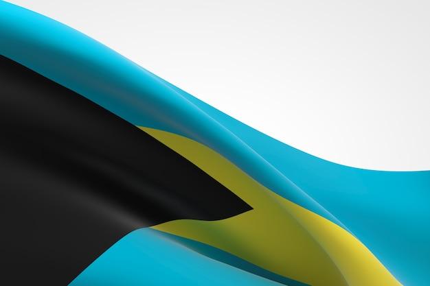 3d-darstellung des bahamaischen fahnenschwingens.