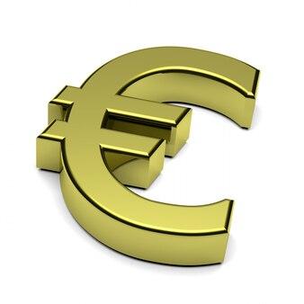 3d-darstellung des euro-symbols