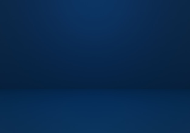 3d-darstellung des leeren dunkelblauen abstrakten minimalen konzepthintergrunds