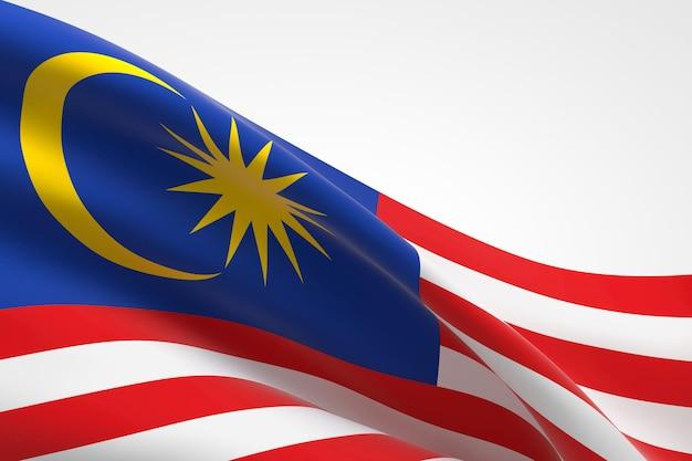 3d-darstellung des malaysischen fahnenschwingens.