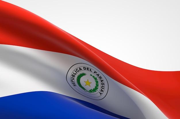 3d-darstellung des paraguayischen fahnenschwingens.