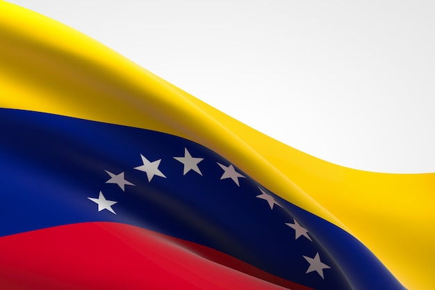 3d-darstellung des venezolanischen fahnenschwingens.