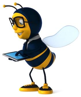 3d-darstellung einer geschäftsbiene