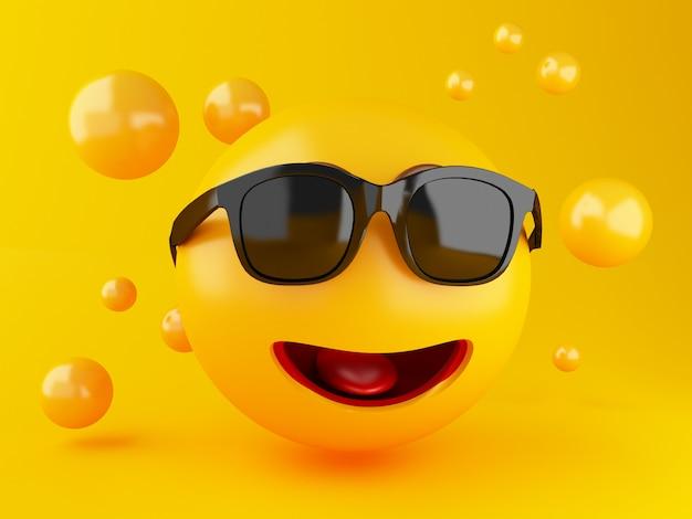 3d darstellung. emoji-icons mit gesichtsausdrücken. social media-konzept.