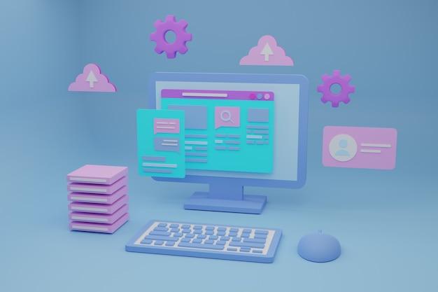 3d-darstellung für software und webentwicklung