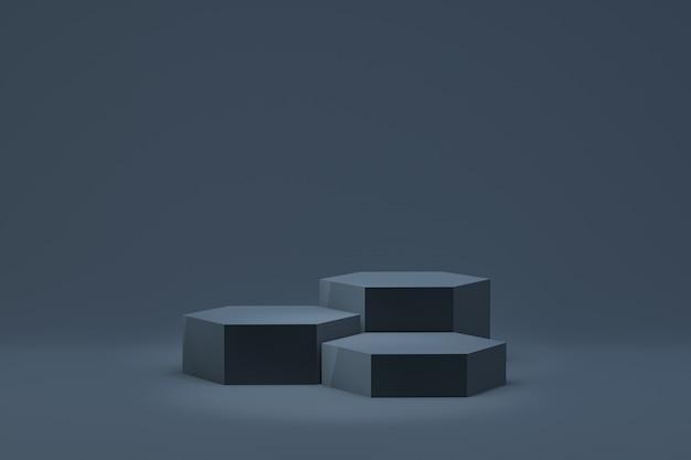 3d-darstellung, minimaler abstrakter hintergrund des podiums für kosmetische produktpräsentation, abstrakte geometrische form
