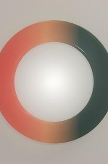 3d-darstellung. minimalistisches design im linearen stil. flyer, stilvolle broschüre, grußkarte, cover.