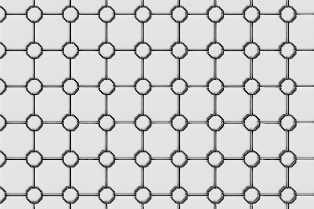 3d-darstellung moderner schwarz-weißer abstrakter geometrischer hintergrund, kissendruck, monochrome retro-textur