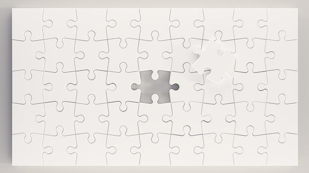 3d-darstellung. puzzleteile isoliert auf weißem hintergrund. 3d-rendering