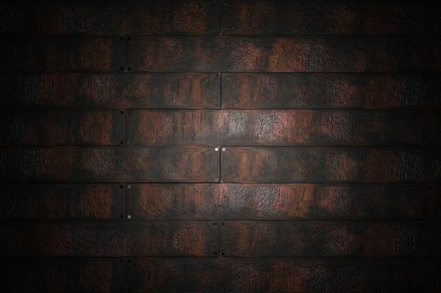 3d-darstellung. textur hintergrundmuster wand dunkles schwarzes holz