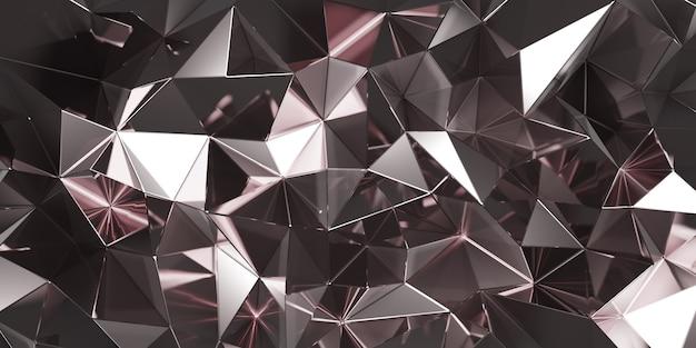 3d-darstellung von rhodium abstrakt