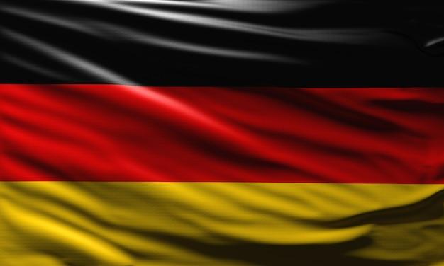 3d deutschland flagge hintergrund deutsches nationalsymbol winkte im wind weltflaggenkonzept