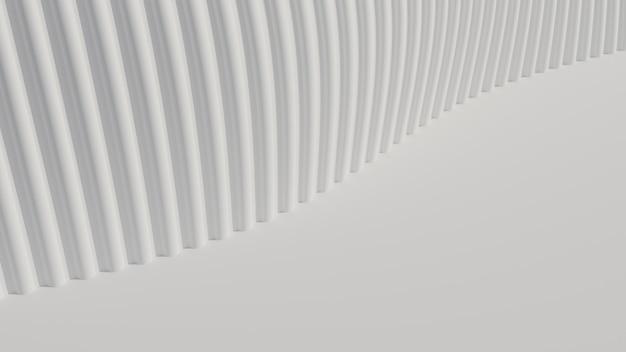 3d, die abstrakten kurve weißen klaren hintergrund wiedergibt