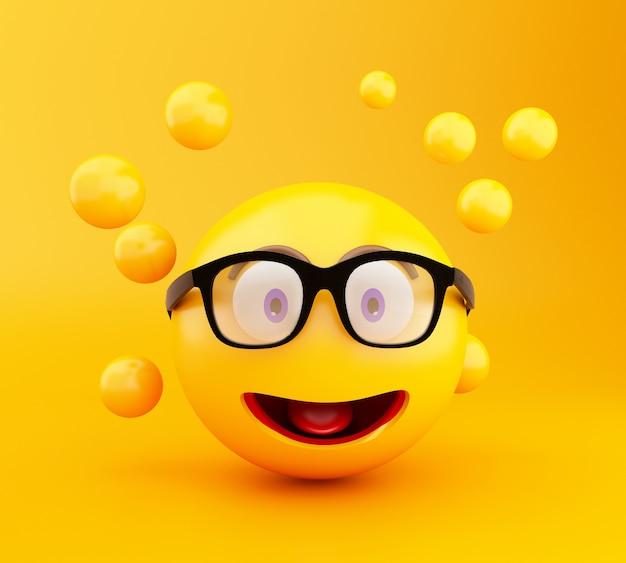 3d emoji-ikonen mit gesichtsausdrücken.