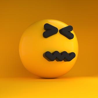 3d-emoji mit traurigem gefühl