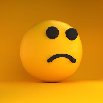 3d emoji traurig