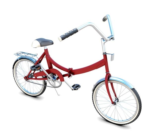 3d-fahrrad lokalisiert auf weißem hintergrund. 3d-illustration
