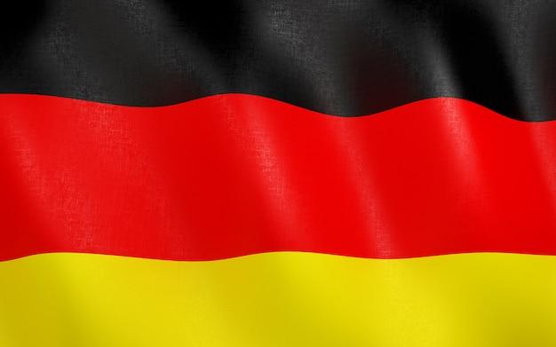 3d flagge von deutschland.