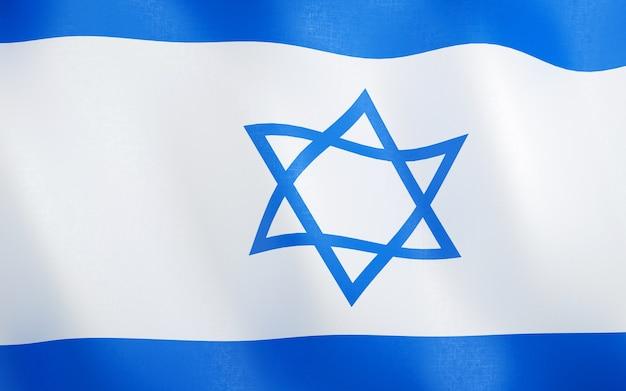 3d flagge von israel.