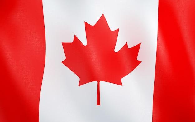 3d flagge von kanada.