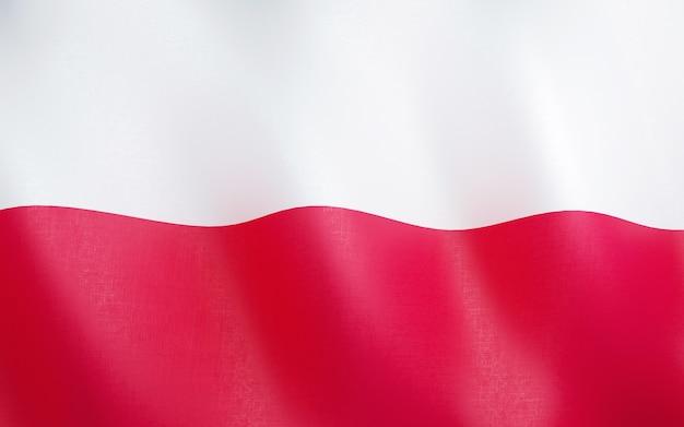 3d flagge von polen.