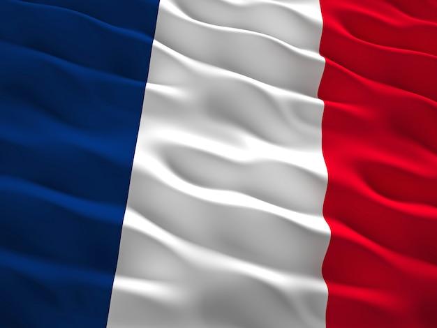 3d frankreich flagge