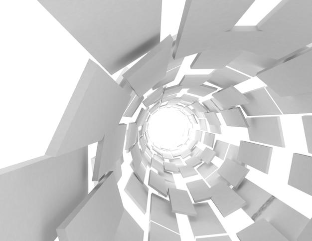 3d futuristischer abstrakter hintergrund. 3d gerenderte darstellung