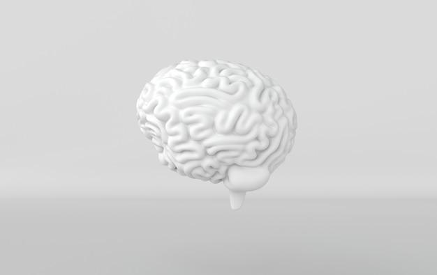 3d-gehirn-rendering-illustrationsschablonenhintergrund