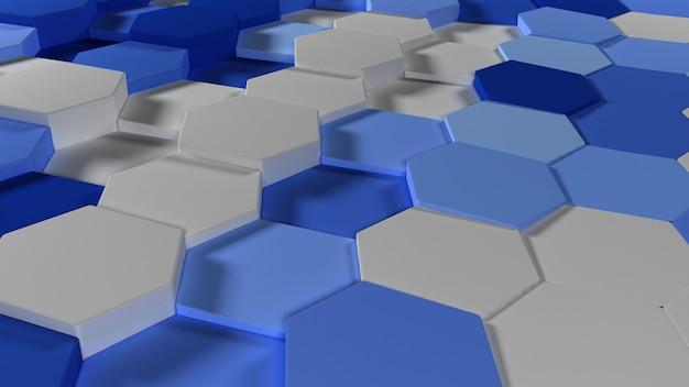3d geometrische abstrakte hexagonale tapete hintergrund