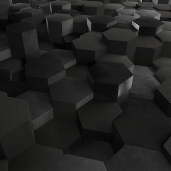 3d geometrischer abstrakter hexagonaler hintergrund