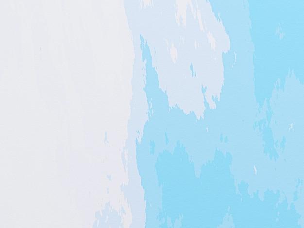 3d gerenderte abstrakte blau und weiß gemalte wand.