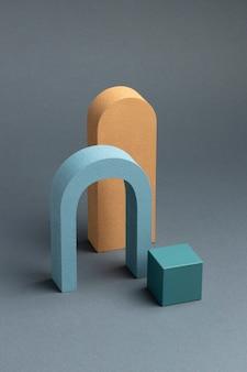 3d gerenderte abstrakte designelemente anordnung
