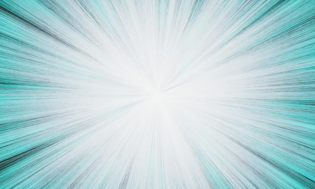 3d gerenderte abstrakte grünlich blaue explosionsstrahl