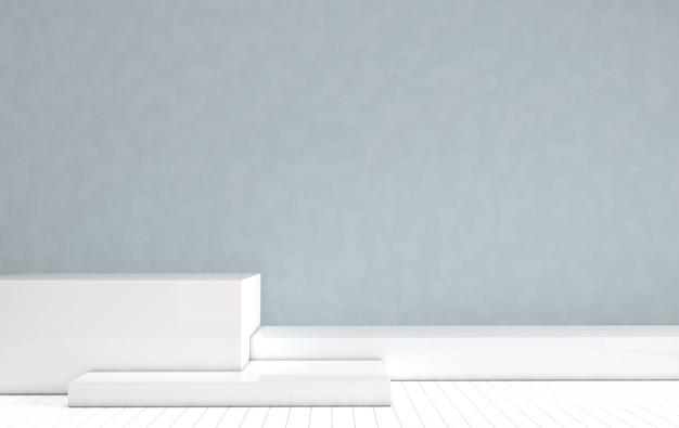 3d gerenderte podiumsplattformen für die produktpräsentation