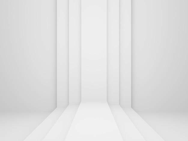 3d gerenderte weiße geometrische bühne