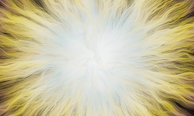 3d gerenderter abstrakter gelber explosionsstrahl
