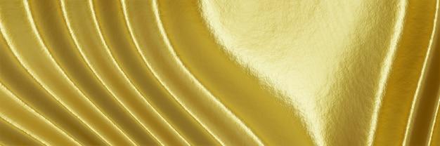 3d gerenderter abstrakter gewellter goldhintergrund