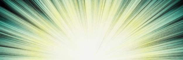 3d gerenderter abstrakter grüner explosionsstrahl